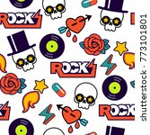 vector seamless rock pattern... | Shutterstock .eps vector #773101801