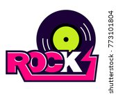 rock and roll music vector logo ... | Shutterstock .eps vector #773101804