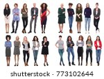 people above and next each other | Shutterstock . vector #773102644