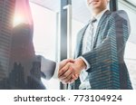 double exposure of two... | Shutterstock . vector #773104924