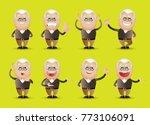 cute people   grandpa set | Shutterstock .eps vector #773106091