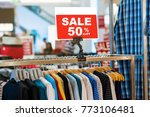 sale 50  off mock up advertise... | Shutterstock . vector #773106481