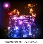 girl business light design... | Shutterstock .eps vector #77310661