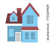 house big attic floor and... | Shutterstock .eps vector #773109409