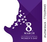 international women's day with... | Shutterstock .eps vector #773109445