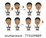 cute people   businessman set | Shutterstock .eps vector #773109889
