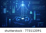 abstract technology ui... | Shutterstock .eps vector #773112091