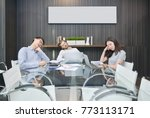 group of business people... | Shutterstock . vector #773113171