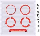 red circular arrows set vector...   Shutterstock .eps vector #773113339