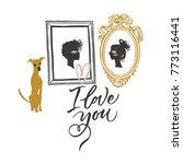 illustration for valentine's... | Shutterstock .eps vector #773116441