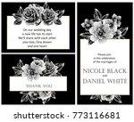 vintage delicate invitation... | Shutterstock . vector #773116681
