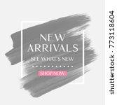 new arrivals sale text over art ... | Shutterstock .eps vector #773118604