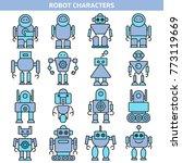 cartoon robot character icons | Shutterstock .eps vector #773119669