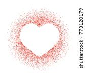 red glitter heart frame  border.... | Shutterstock .eps vector #773120179