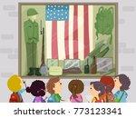illustration of stickman kids... | Shutterstock .eps vector #773123341