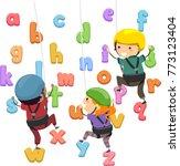 illustration of stickman kids... | Shutterstock .eps vector #773123404