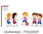 illustration of stickman kids... | Shutterstock .eps vector #773123419
