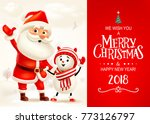 merry christmas and happy new... | Shutterstock .eps vector #773126797