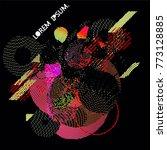 abstract vector background dot... | Shutterstock .eps vector #773128885