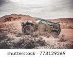 jeep outdoors adventures | Shutterstock . vector #773129269