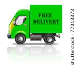 free delivery truck package... | Shutterstock . vector #77313373