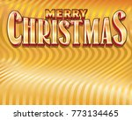 gold merry christmas message on ... | Shutterstock .eps vector #773134465