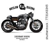 vintage cafe racer poster | Shutterstock .eps vector #773143345