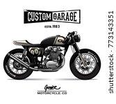 vintage cafe racer poster | Shutterstock .eps vector #773143351
