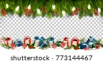 christmas holiday frame with... | Shutterstock .eps vector #773144467