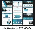 blue presentation templates... | Shutterstock .eps vector #773145454