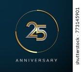 25 years anniversary logotype... | Shutterstock .eps vector #773145901