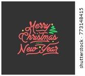 merry christmas lettering for... | Shutterstock .eps vector #773148415