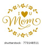 mother's day greeting in floral ... | Shutterstock .eps vector #773148511