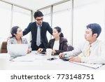 senior business man or manager... | Shutterstock . vector #773148751