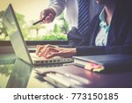 business team working on... | Shutterstock . vector #773150185