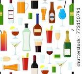cartoon alcoholic beverages... | Shutterstock .eps vector #773150791