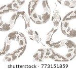 snakes skin pattern on white... | Shutterstock .eps vector #773151859