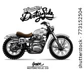 vintage chopper motorcycle... | Shutterstock .eps vector #773152504