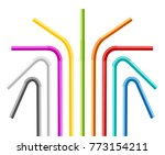 realistic 3d detailed color... | Shutterstock .eps vector #773154211