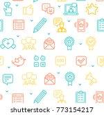 feedback seamless pattern... | Shutterstock .eps vector #773154217