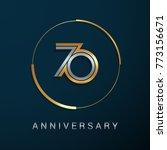 70 years anniversary logotype...