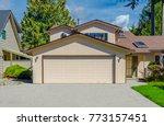 garage  garage doors and...   Shutterstock . vector #773157451