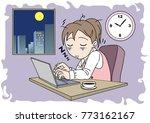 overtime image  woman   ...   Shutterstock .eps vector #773162167