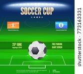 soccer event flyer template.... | Shutterstock .eps vector #773163331