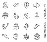thin line icon set   pointer ... | Shutterstock .eps vector #773165374