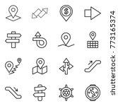 thin line icon set   pointer ...   Shutterstock .eps vector #773165374