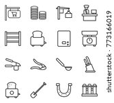 thin line icon set   shop... | Shutterstock .eps vector #773166019
