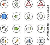 line vector icon set   left... | Shutterstock .eps vector #773168185