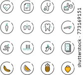 line vector icon set   heart... | Shutterstock .eps vector #773169151