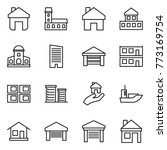 thin line icon set   home ...   Shutterstock .eps vector #773169754